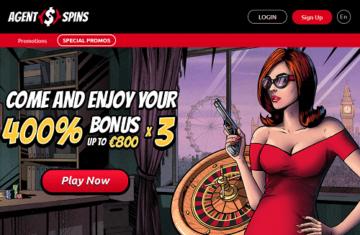Agent Spins Casino Homepage