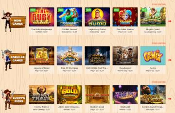 luckyluke casino games