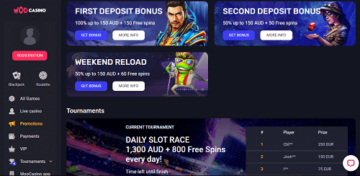 woo casino bonuses