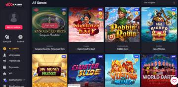 woo casino games