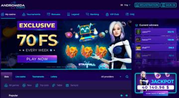 andromeda casino homepage
