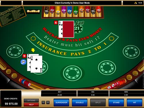 Super Fun 21 Online Blackjack