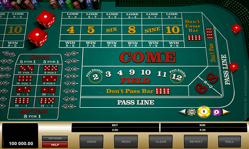 Craps Bets odds
